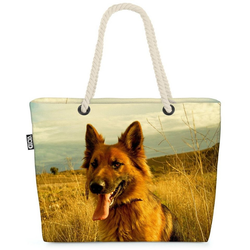 VOID Strandtasche (1-tlg), Deutscher Schäferhund Beach Bag Rex Schäferhund Jagdhund Welpe Hund Haustier