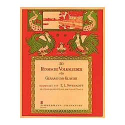 50 Russische Volkslieder für Gesang und Klavier - Buch