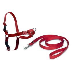 Hunde Geschirr »Easy Walk« inkl. Hundeleine · 38-51cm, rot