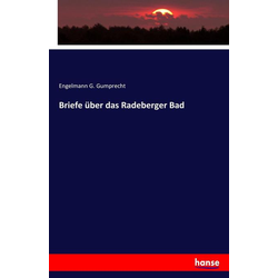 Briefe über das Radeberger Bad als Buch von Engelmann G. Gumprecht