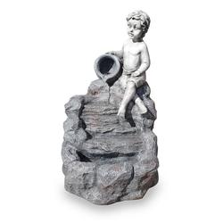 Kiom Dekoobjekt Gartenbrunnen Figurenbrunnen FoChild Led 74 cm