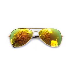 Pilotenbrille Sonnenbrille Herren Damen Flieger gold-red