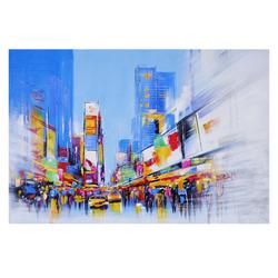 Ölgemälde Times Square, 100% handgemaltes Wandbild Gemälde XL, 120x80cm