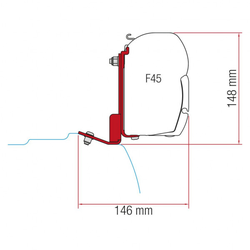 Adapter Kit Ford Custom ab 2016 für Fiamma Markise F45