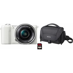 Sony Alpha ILCE-5100L Systemkamera (24,3 MP, NFC, WLAN (Wi-Fi), inkl. 16-50mm Objektiv) weiß
