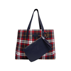 Superdry Shopper Superdry Tasche ADEENA CANVAS TOTE Red Check