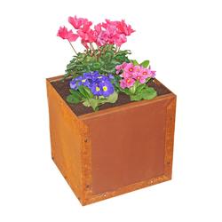 Prima terra Pflanzkasten Blumenkasten Edelrost 38x38x35cm Pflanzkübel Pflanztrog