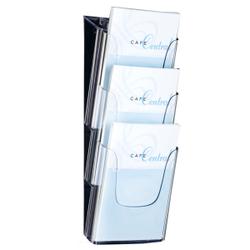Sigel Tisch-Prospekthalter acrylic, mit 3 Fächern, Werbeaufsteller mit einem Fach für Inhalte, für A4