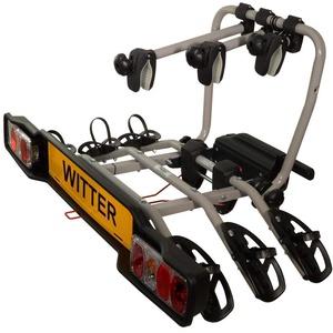 Witter Towbars ZX303EU Fahrradträger für die Anhängerkupplung - Kupplungsfahrradträger für 3 Fahrräder abklappbar - Heckträger inkl. 7- bzw. 13-poligem Anschluss mit 60 kg Zuladung
