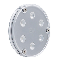 A6 LED Unterwasserscheinwerfer, IP68, fixed color oder RGB