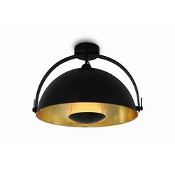 Kiom Deckenleuchte Retro Deckenlampe Alona Ceil schwarz & gold Ø 45cm