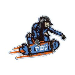 PRYM Appl. Affe auf Skateboard blau/bunt, Zubehör, Leuchten & Lupen