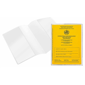 Impfpass Hülle neuer Impfpass 93 x 130 mm   Schutzhülle für Impfausweis neu   oft ausgestellt nach 2008   Ausweishülle für internationales Impfbuch   doppelseitig transparent (4 Stück)