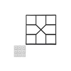 relaxdays Fundamentrahmen 10 x Betonform Gussform, BxT: 40x40 cm