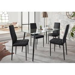 Essgruppe Danny (Set, 5-tlg) schwarz Essgruppen Tische Sitzmöbel-Sets