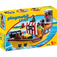 Playmobil 1.2.3 Piratenschiff (9118)