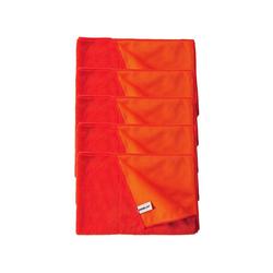 Kochblume Geschirrtuch Geschirrtuch 60 x 40 cm, (Spar-Set, 5-tlg), 800g/m² Qualtität rot