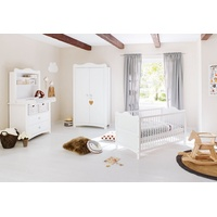 Pinolino Kinderzimmer Florentina breit mit Regalaufsatz 3-tlg. weiß