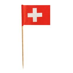 Flaggenpicker Fahnenpicker Deko-Picker Land 'Schweiz', 100 Stk.