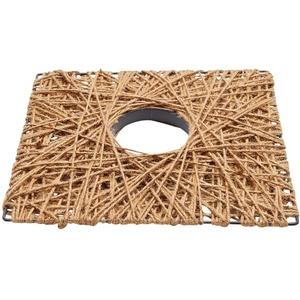 matches21 HOME & HOBBY Bastelnaturmaterial Dekoelement Quadrat Seiloptik Wohndeko basteln 1 Stk 40x40 cm, (1-tlg) braun