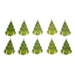 10x Weihnachtsbaum Christbaum für Gläser Glas Tisch Deko Advent Weihnachten