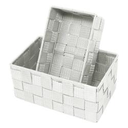 Lashuma Aufbewahrungskorb (Set, 2 Stück), 1x Badkorb 19x10x7 cm, 1x Aufbewahrungsbox 20x13x10 cm grau 19 cm x 7 cm x 10.00 cm