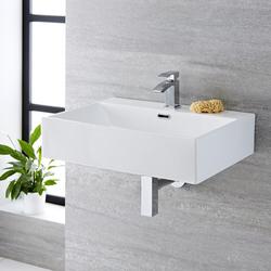 Hängewaschbecken Weiß 600 mm x 420 mm - Sandford, von Hudson Reed