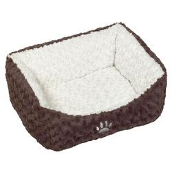 Nobby Hundebett Neiku braun/weiß, Maße: 75 x 60 x 23 cm