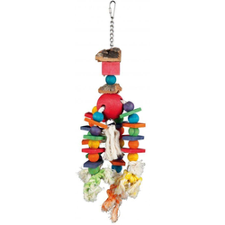 TRIXIE Holzspielzeug für Vogel, bunt 35 cm