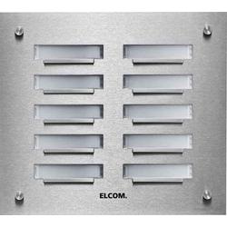 Elcom UP-Klingelplatte 8Taster,2-reihig, Ed KVM-8/2