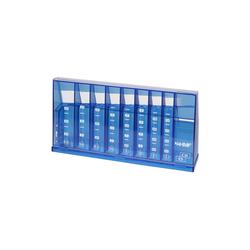 HMF Spardose 4710, Münzsortierer, 24 x 5 x 12 cm blau