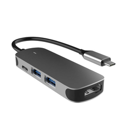 kueatily 4-in-1-Dockingstation Typ C zu HDMI + PD + USB3.0 USB-C-Hub der Dockingstation Dockingstation