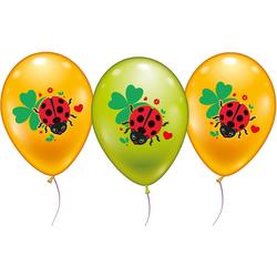 Karaloon Luftballon 18 Ballons Glückskäfer bunt