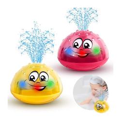 kueatily Baby-Badespielzeug, Elektrisches Induktionsspielzeug, Leuchtendes Musik-Badespielzeug, Sprinkler, Badespielzeug für Kleinkinder und Kinder Badespielzeug