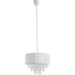 näve Pendelleuchte Kristallo, E27, 1 St. weiß Pendelleuchten und Hängeleuchten Deckenleuchten Lampen Leuchten