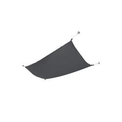en.casa Seilspannsonnensegel, Braga Seilspannmarkise Sonnenschutz Sonnendach 140x270cm Dunkelgrau grau 270 cm x 140 cm