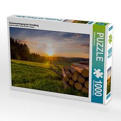 Sonnenuntergang bei Annaberg Lege-Größe 64 x 48 cm Foto-Puzzle Bild von Matthias Bellmann Puzzle