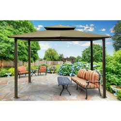 Paragon Outdoor Aluminium Pavillon Kingsbury 11x14 sand 330x450 cm