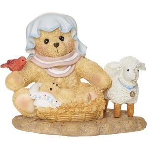 Roman Cherished Teddies, Maria und Jesus Figur, Cherished Teddies Krippen-Kollektion, 6,3 cm H, Harz und Wollastonit, langlebig, Sammlerfigur
