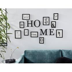 Home affaire Bilderrahmen, für 10 Bilder, und Buchstaben HOME