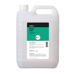 rath's clean soft mildes Waschgel, Schonendes Duschgel mit intensiver Rückfettung, 5 Liter - Kanister, parfümiert