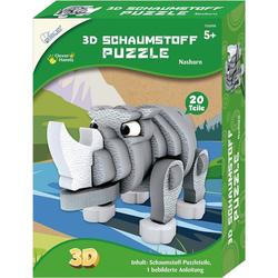 MAMMUT Spiel und Geschenk 3D-Puzzle 3D Schaumstoff Puzzle Nashorn, Puzzleteile
