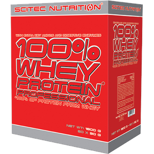 Scitec Nutrition - 100% Whey Protein Professional, 30x30g Portionsbeutel (Geschmack: Banane)
