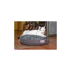 Gesundes Katzenkissen Caro Style grau/zebra 50cm ø