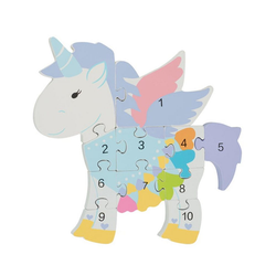 Nici Konturenpuzzle Zahlenpuzzle Einhorn, 11 Puzzleteile