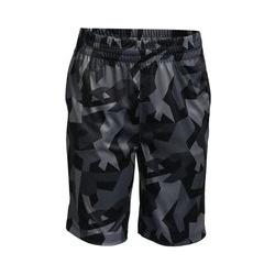 Performance-Shorts, Größe: 128-134, Grau, Polyester, by Lands' End, Grau Geo Camouflage - 128-134 - Grau Geo Camouflage