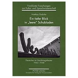 Ein tiefer Blick in 'leere' Schubladen. Matthias Elsdörfer  - Buch