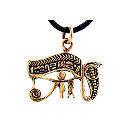 Kiss of Leather Kettenanhänger Auge des Horus Anhänger aus Bronze Schutz Amulett Horusauge ägyptisch magisch