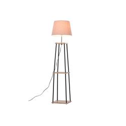 HOMCOM Stehlampe Stehlampe mit 2 Ablagen