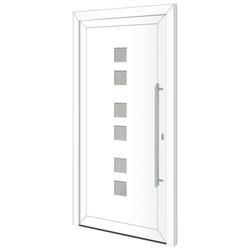 RORO Türen & Fenster Haustür Otto 17, BxH: 100x210 cm, weiß/weiß, Anschlag links, ohne Griff